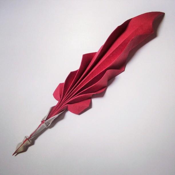 Hoàng Tiến Quyết Wet Fold Origami Quill Pen