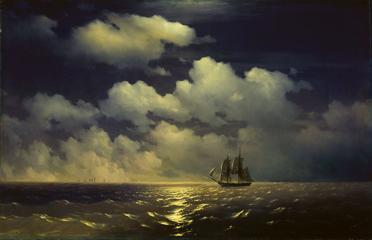 Ivan Aivazovsky - Sea Painter - The brig Mercury encounter after defeating two Turkish ships of the Russian squadron - Copy