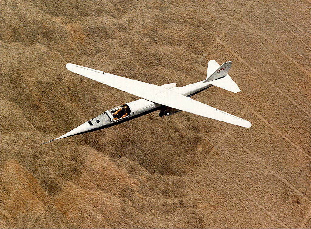 Weird Prototype Aircraft - Ames-Dryden-1 from above