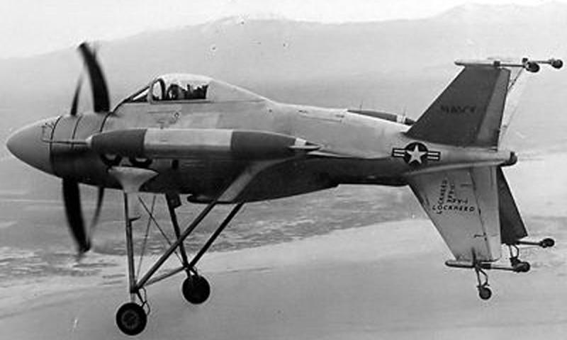 Weird Prototype Aircraft - Lockheed XFV prototype