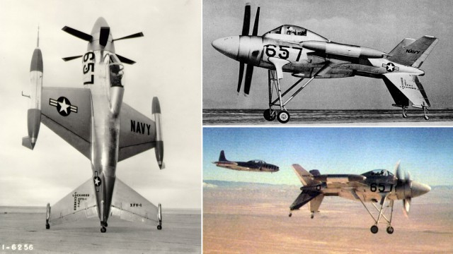 Weird Prototype Aircraft - Lockheed XFV