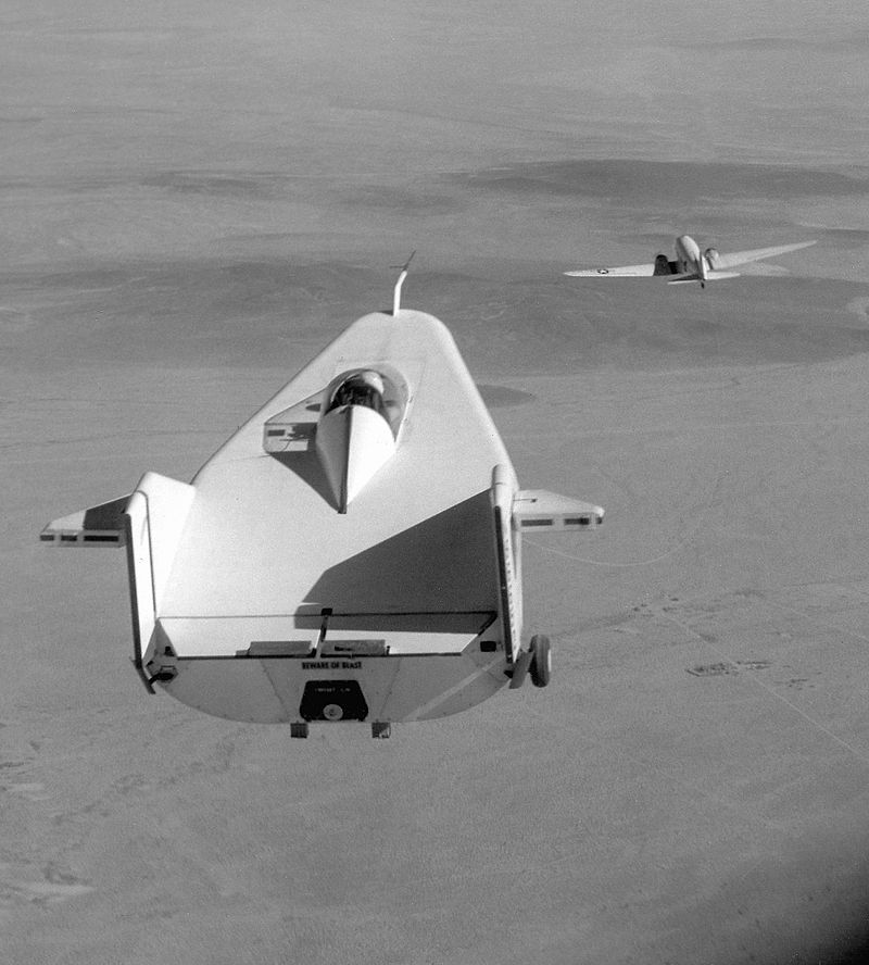 Weird Prototype Aircraft - M2-F1 in tow