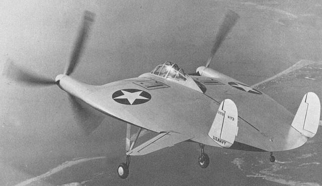 Weird Prototype Aircraft - VTOL Vought V-173