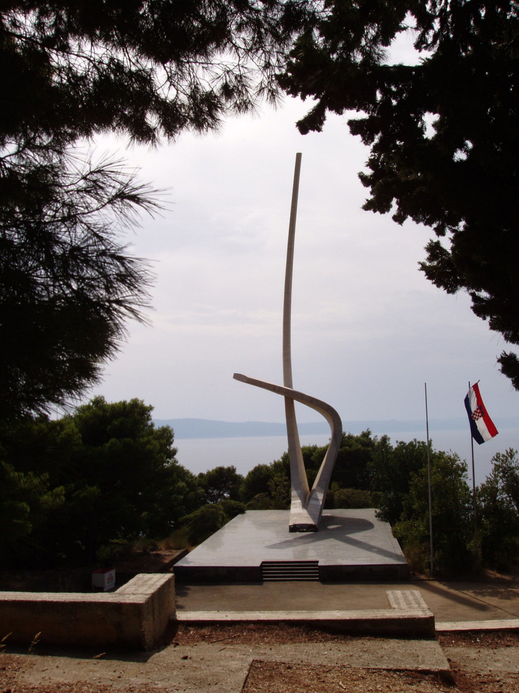 Yugoslavian WWII Monuments - Monument Seagull's wings Podgora 2
