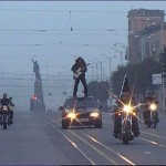 Awesome Photos From Russia With Love - Guitar On Top Of A Car