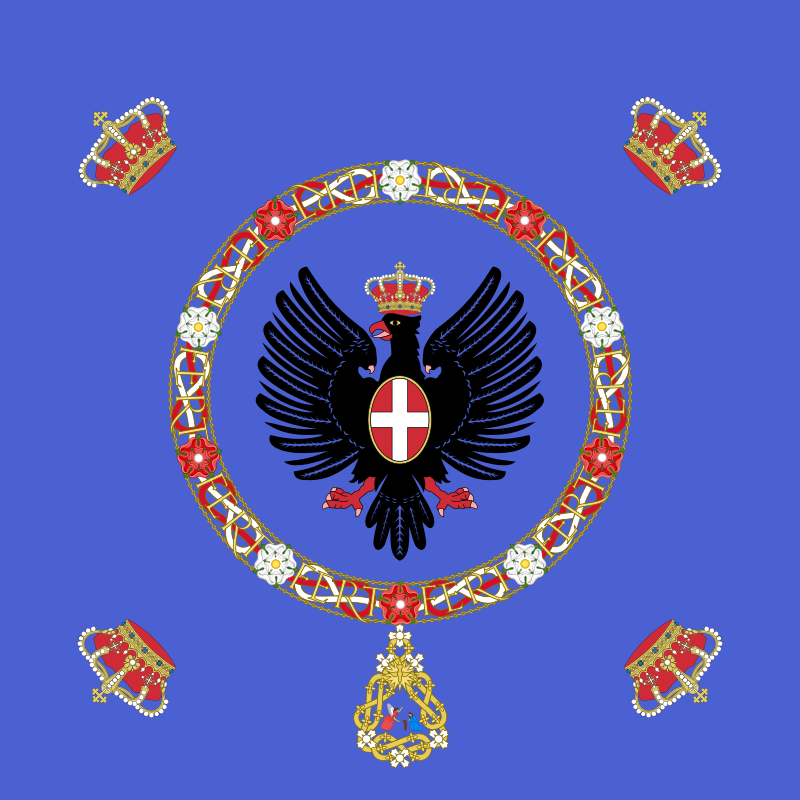 Regional Flags Italy - Flag of the Royal Standard Of The King Of Italy 1880–1946
