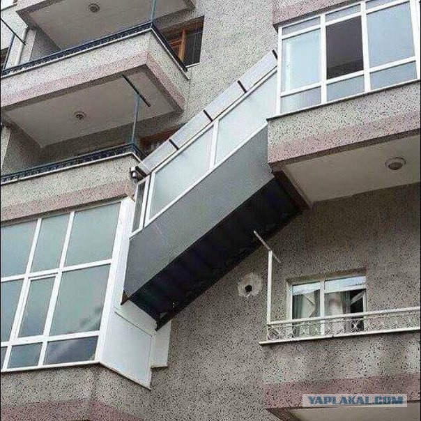 Ridiculous Balconies Humour - Transition