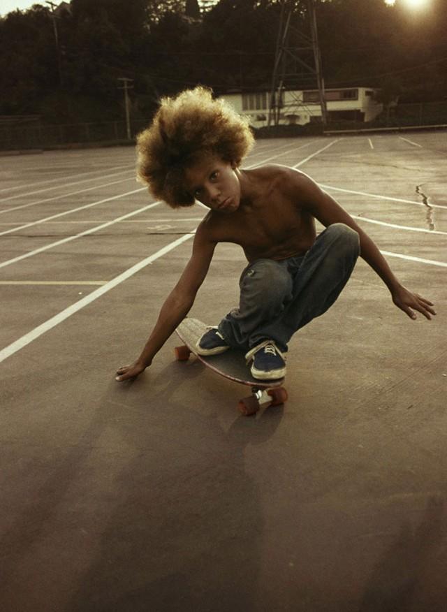 Skate Scene California 70s - afro dude