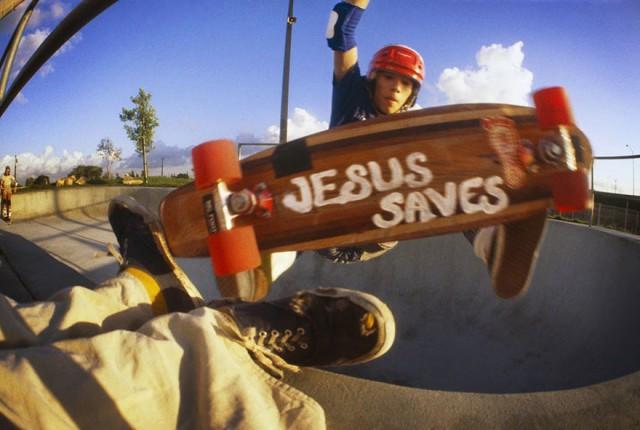 Skate Scene California 70s - jesus saves