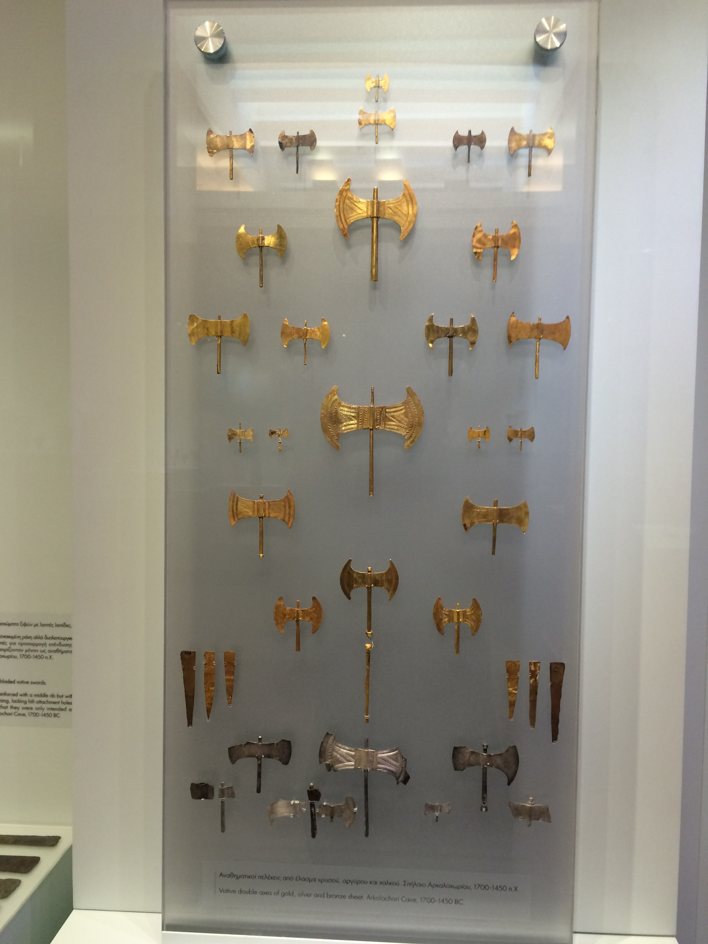 Gold Leaf Axes - Minoan