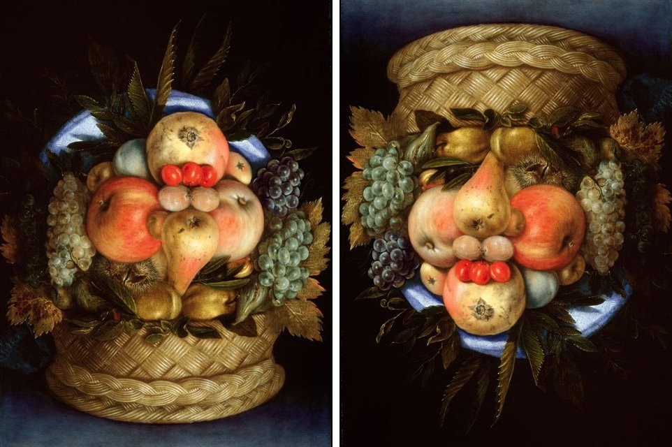 Giuseppe Arcimboldo - Reversible Head