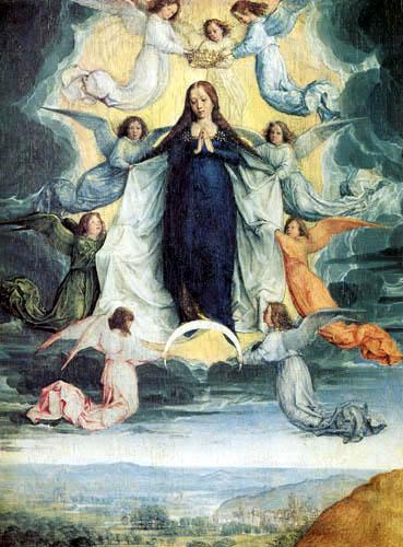 Michael Sittow - Assumption of the Virgin c 1500