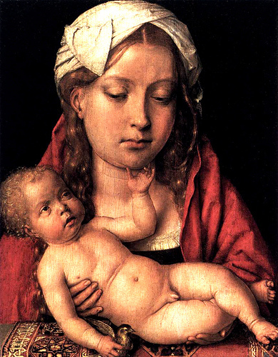 Michael Sittow - Catherine of Aragon as the Madonna