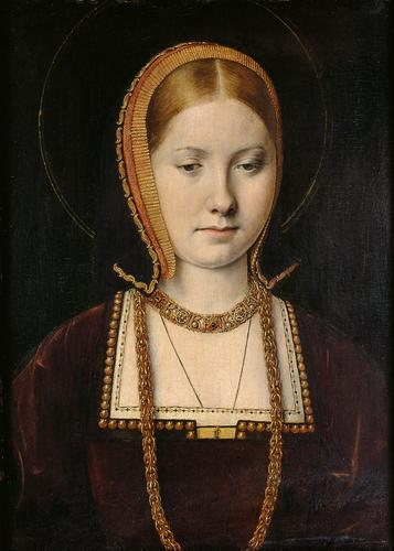 Michael Sittow - The Vienna portrait, probably of Catherine of Aragon 1500-1505