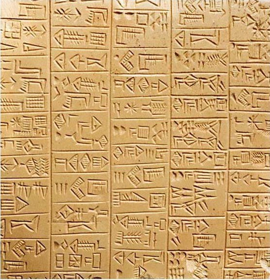 Timeline of earth - Sumerian Language Example