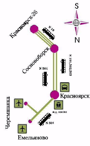 Zheleznogorsk - Krasnoyarsk Krai - Map