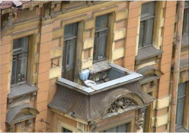 Hilarious Balconies - Toilet