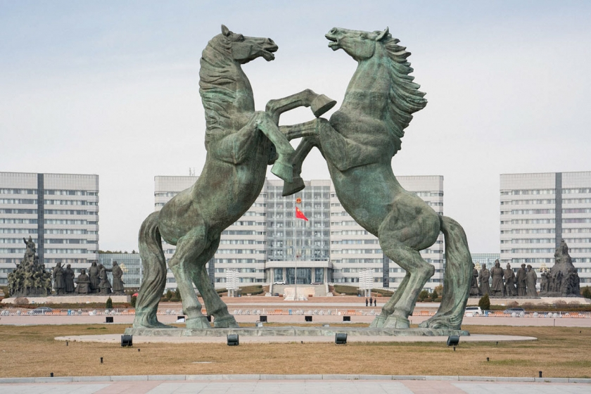 Kangbashi New Area Ordos- Huge Horse Monument