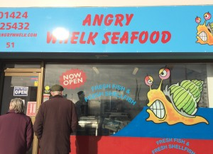Bexhill on Sea Sussex - Shop Fronts - Angry Whelk Seafoods