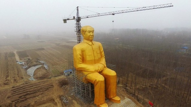 Giant Mao Zedong Statue - Henan - Destroyed