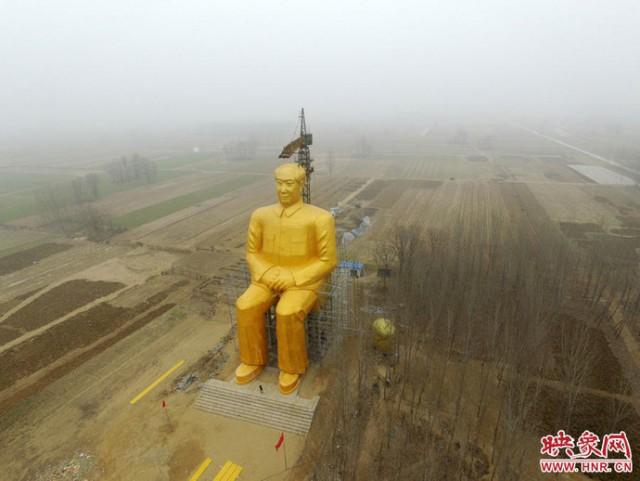 Giant Mao Zedong Statue - Henan - Illegal