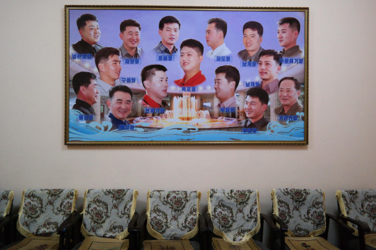 North Korea DPRK Buildings - Boys Hair