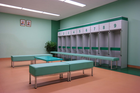North Korea DPRK Buildings - Changing Room