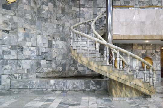 North Korea DPRK Buildings - Marble Staircase