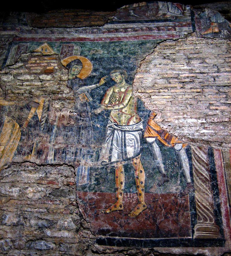 Leprosy in Art - 1th Century Fresco