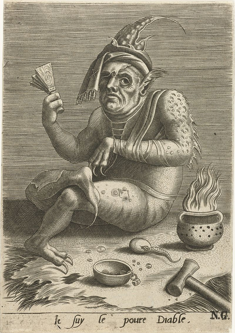 Leprosy in Art - Anonymous - Je suy le poure Diable - 1500-1599