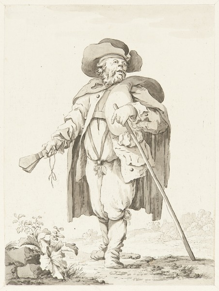 Leprosy in Art - Bettler; Aussätziger mit Siechenklapper - 1778