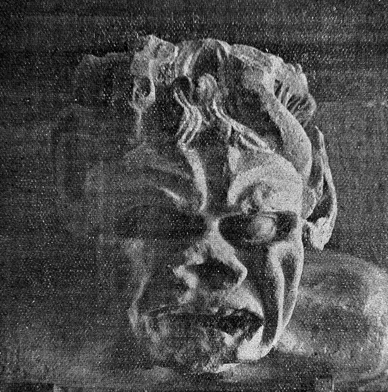 Leprosy in Art - Devil's mask depicting Leprosy, 14th century