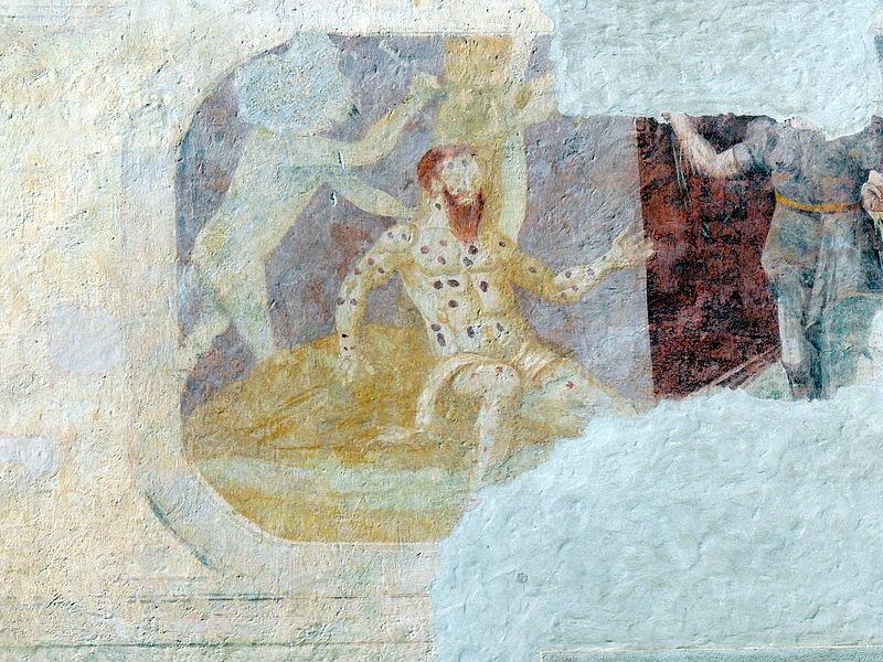 Leprosy in Art - Parz castle, Austria - Frescos c1580