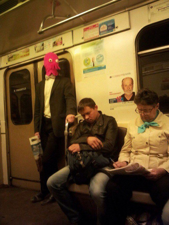 Awesome Photos From Russia - Jellyfish Mask Underground