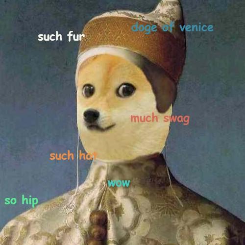 Doge meme painting - photo#10