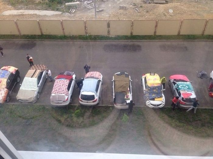 Protecting Car From Hail - Sheets