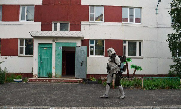 Funny Russian Photos - Suburban Stormtrooper