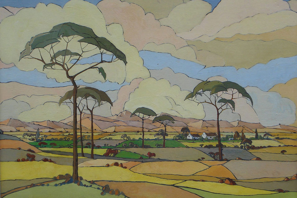 Jacobus Hendrik Pierneef - Art Deco Trees