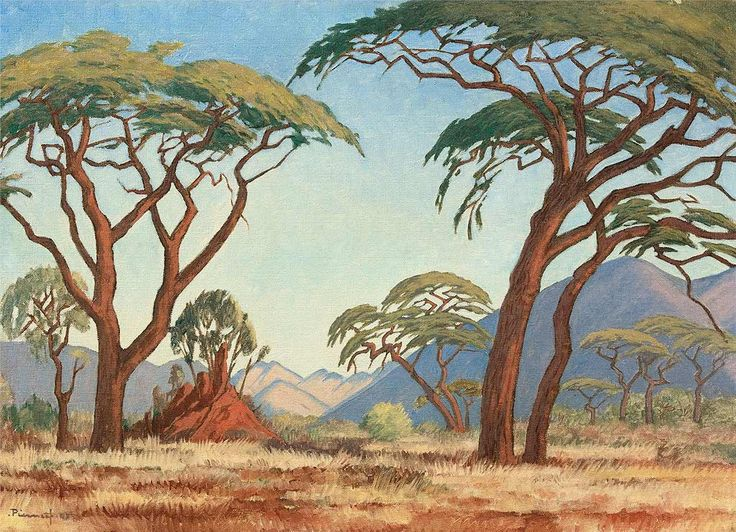 Jacobus Hendrik Pierneef - Painting African Bush