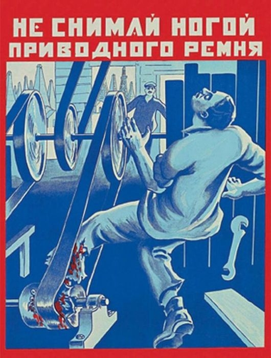 Russia Health And Safty Posters - Leg