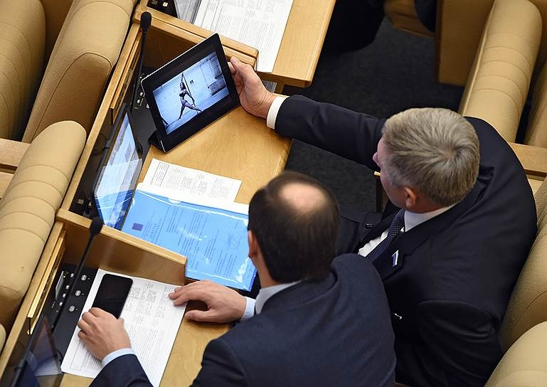 Russian Parliament Humour - watching dancing girls