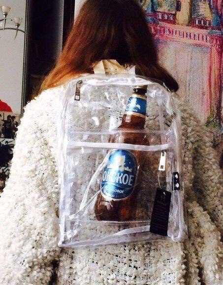 Awesome Russia - Transparant Booze Bag