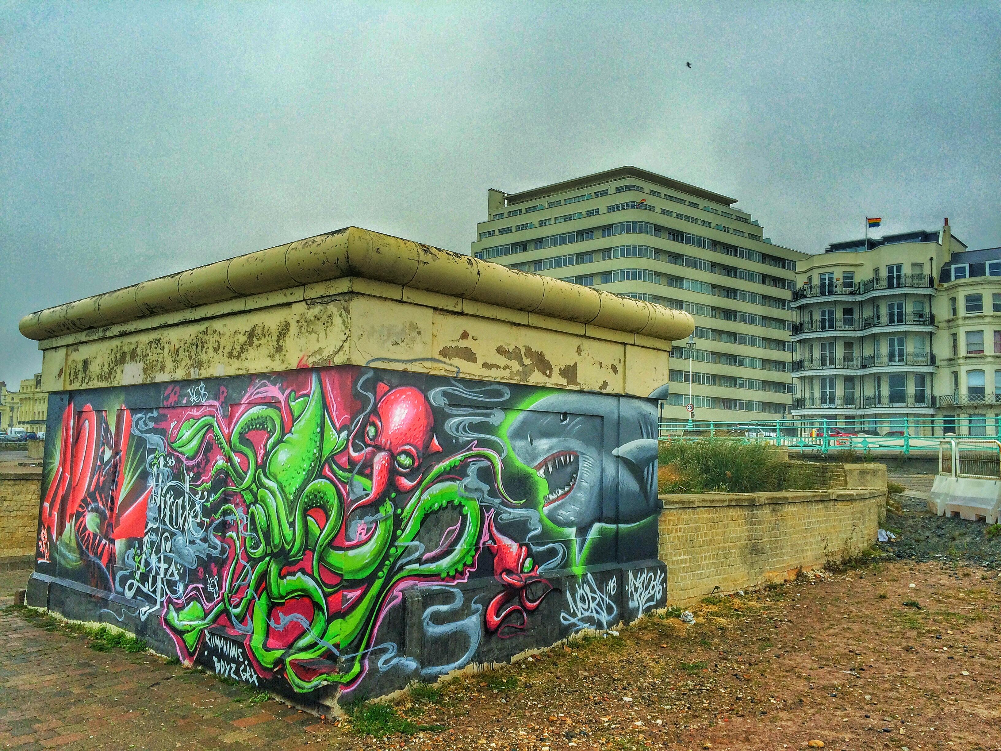 BRIGHTON PRIDE 2016 AFTERMATH - graffiti