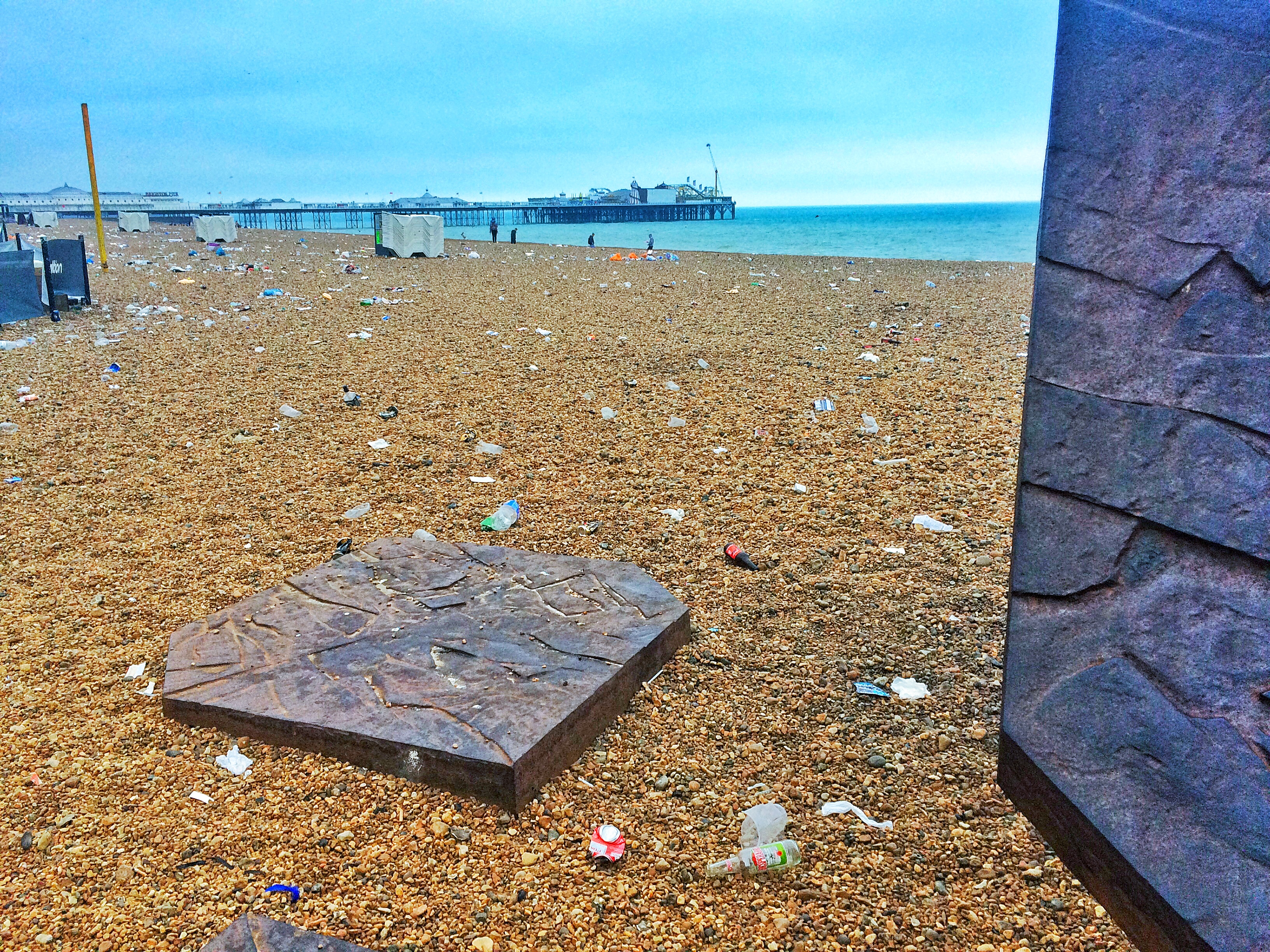 BRIGHTON PRIDE AFTERMATH 2016 - BEACH MESS WITH PIER