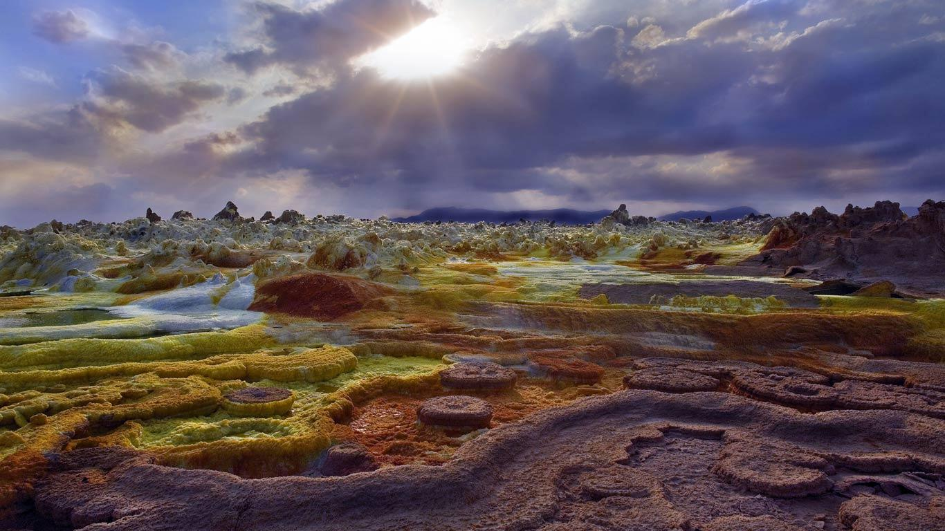 Danakil Depression Dallol Sunset
