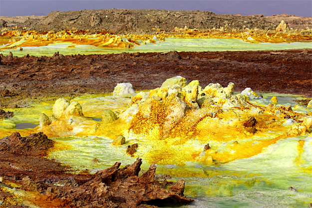 Danakil Depression Dallol - Suphur Pools