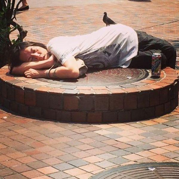 Japanese Sleeping In Public 10