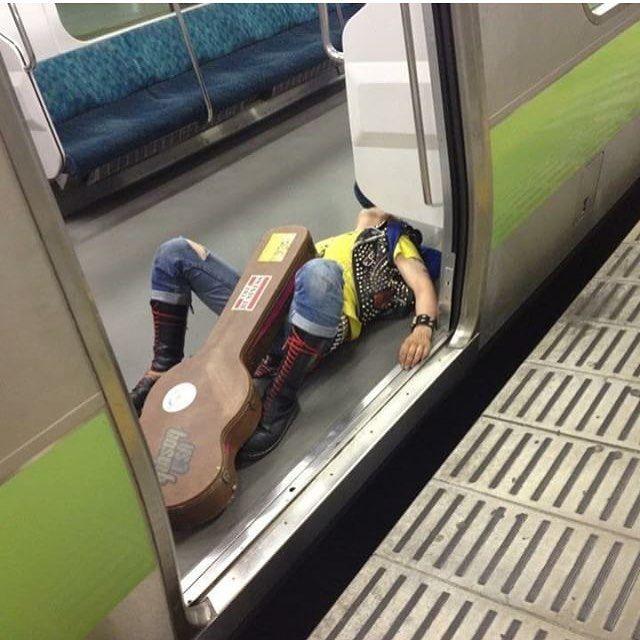 Japanese Sleeping In Public 19