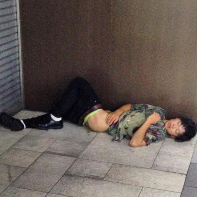Japanese Sleeping In Public 22