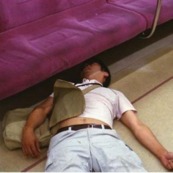 Japanese Sleeping In Public 23